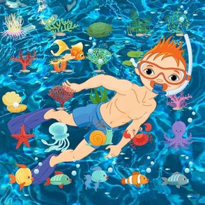 A Boy's Day Snorkeling in the Deep Blue Boy Wonder Design Challenge