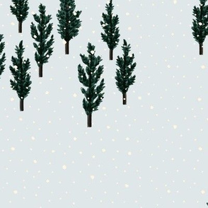 christmas forest pine forest half drop repeat christmas fabric christmas trees
