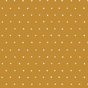 golden turmeric yellow scandi Dots Spots Dotty Spotty earth tones fabric gift wrap wrapping paper wallpaper