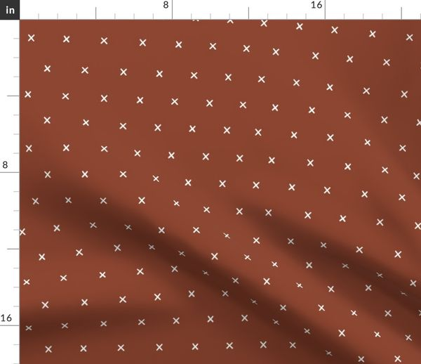 Rust Red Exes Ex X Cross Crosses Gift Wr Spoonflower