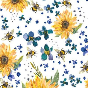 sunflower bees
