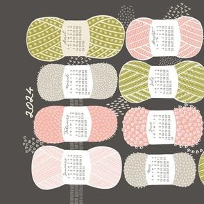 2022 Calendar, Sunday / Knit Your Dream / Brown