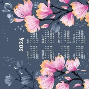 German 2022 Calendar, Monday / Magnolia Melancholy