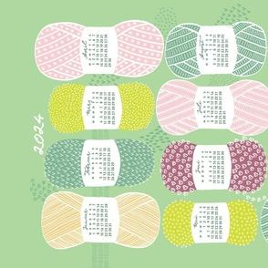 German 2021 Calendar, Monday / Knit Your Dream / Neo Mint