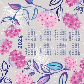 German 2021 Calendar, Monday / Tropical Wax Plant