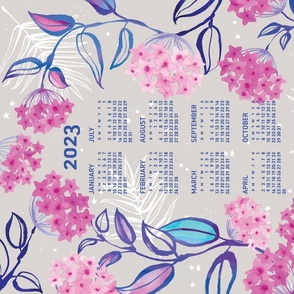 2021 Calendar, Sunday / Tropical Wax Plant