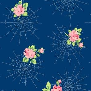 Dewdrops & Roses (Navy)
