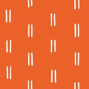 freehand double dash vertical lines vertical stripes striped stripes orange tangerine clementine