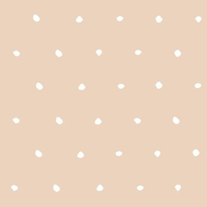 hand drawn dots spots dotty spotty organic fabric gift wrap wallpaper taupe light peach