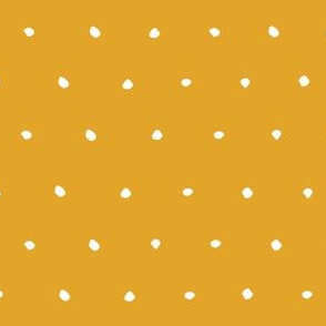 hand drawn dots spots dotty spotty organic fabric gift wrap wallpaper golden yellow sunshine butter yellow