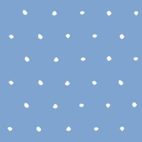 hand drawn dots spots dotty spotty organic fabric gift wrap wallpaper blue