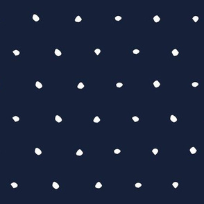 hand drawn dots spots dotty spotty organic fabric gift wrap wallpaper navy blue dark blue
