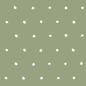 hand drawn dots spots dotty spotty organic fabric gift wrap wallpaper green