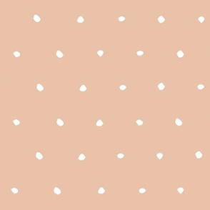 hand drawn dots spots dotty spotty organic fabric gift wrap wallpaper light peach pink