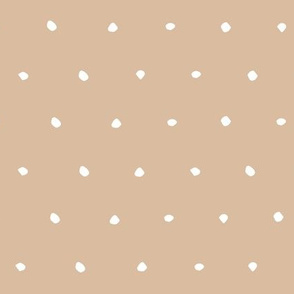 hand drawn dots spots dotty spotty organic fabric gift wrap wallpaper milk coffee