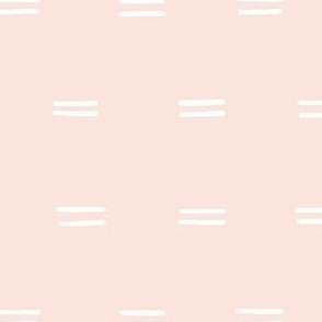 hand drawn horizontal double dash organic stripes striped lines fabric gift wrap wallpaper palest pink