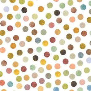 multicolor WATERCOLOR POLKA DOTS