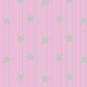 gray stars and stripes on pink