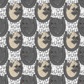 Pug horseshoe portraits