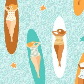 longboard surf girls
