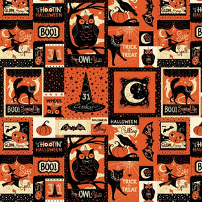 Vintage Halloween Patchwork small