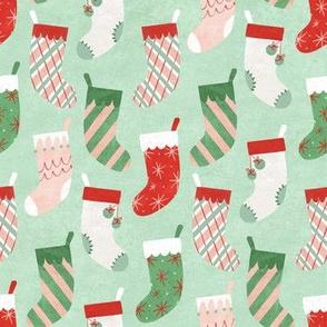 Retro Textured Christmas Stockings