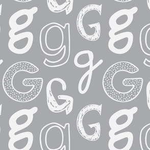 Letter G Grey and Light Grey
