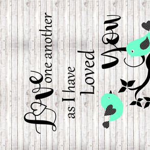 Love one Another Small Wall Quilt Print