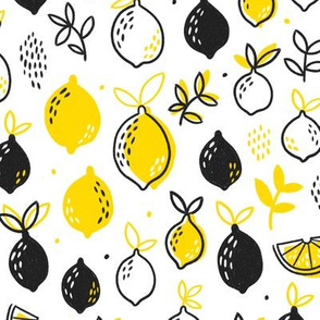 Lemons - Black / Yellow
