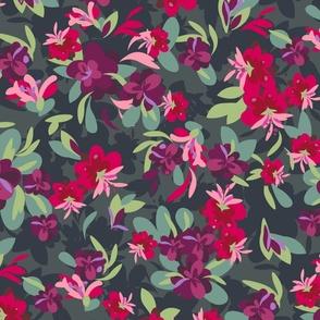 Romantic Floral Charcoal