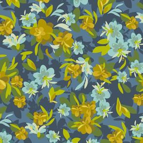 Romantic Floral Blue