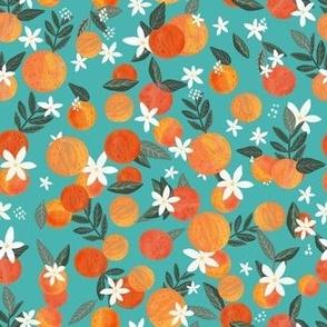 """7"""" Happy Oranges - Turquoise"""