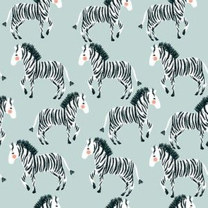 "6"" Zebras - Dusty Blue"