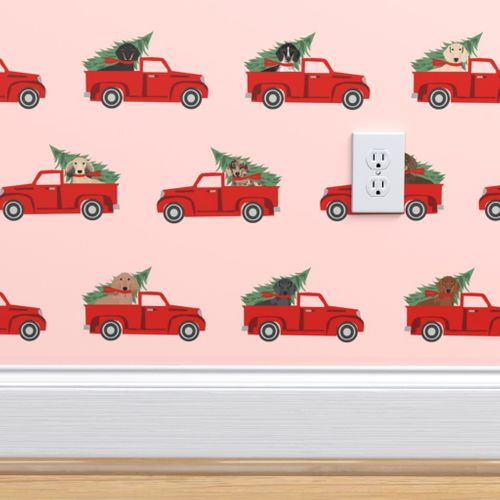 8941568 christmas dachshund red truck fabric cute doxie fabric cute dachshund fabric dog fabric dog design pi by petfriendly