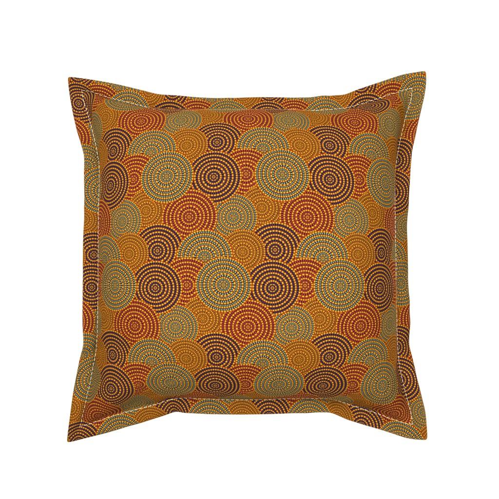 Serama Throw Pillow featuring Desert Circles - Burnt Orange by earthatelierdesigns