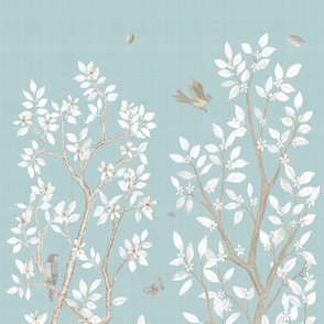 robins egg citrus blossom panel
