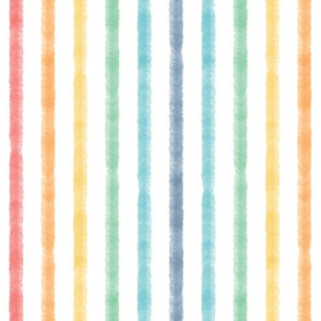 Watercolor Stripe - Rainbow