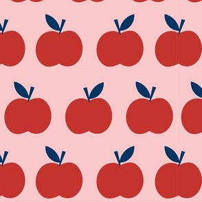 School Day Apples in Red