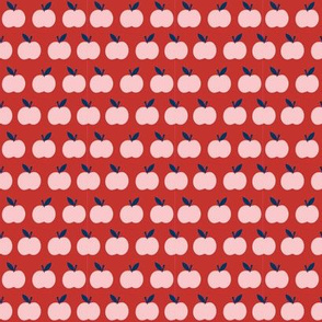 Mini School Apples in Red and Pink