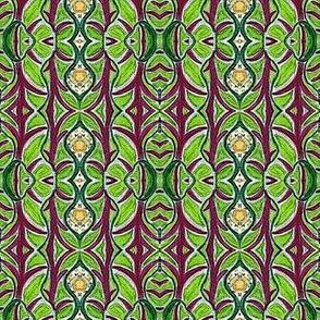 Garden Greens Textural Stripe