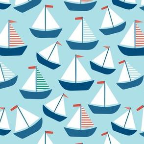 Nautical Sailboat Pattern