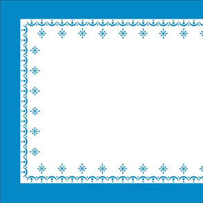 Tea Towel - Pyrex Blue Snow Garland