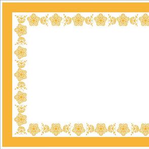 Tea Towel - Pyrex Butterfly Gold