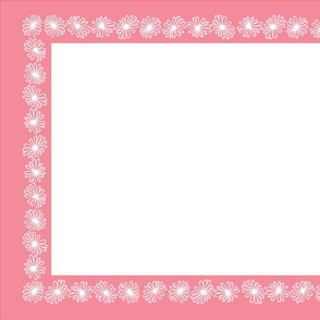 Tea Towel - Pyrex Square Pink Daisies