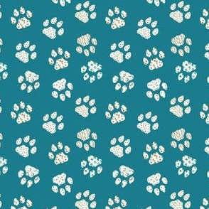 Dog pow trace abstract patterns