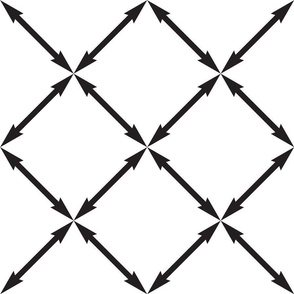 Large Scale Black Arrows, Graphic Print