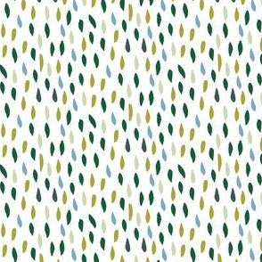 Abstract tiny leaves green