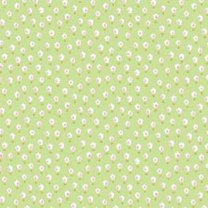 Ditsy Flower lime green
