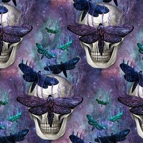 Gothic moth skull