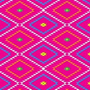 Southwestern Geometric - Pink / Yellow / Green - Small